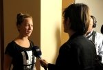 Interviewing a young person at the conference